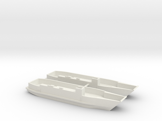 1/350 LCU1610 - Landing Craft Utility (x2) in White Natural Versatile Plastic