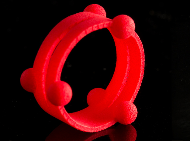 Floating ring - Split version in Pink Processed Versatile Plastic