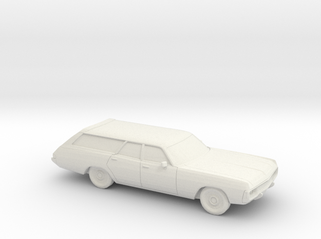1/87 1971-72 Dodge Polara Station Wagon in White Natural Versatile Plastic