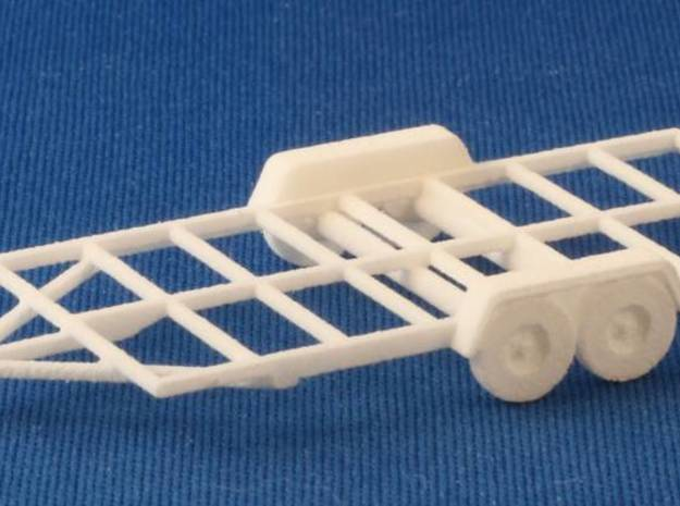 Trailer Frame HO Scale in White Natural Versatile Plastic