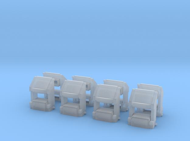 EMD SD70 scale coupler pockets (HO) in Smoothest Fine Detail Plastic