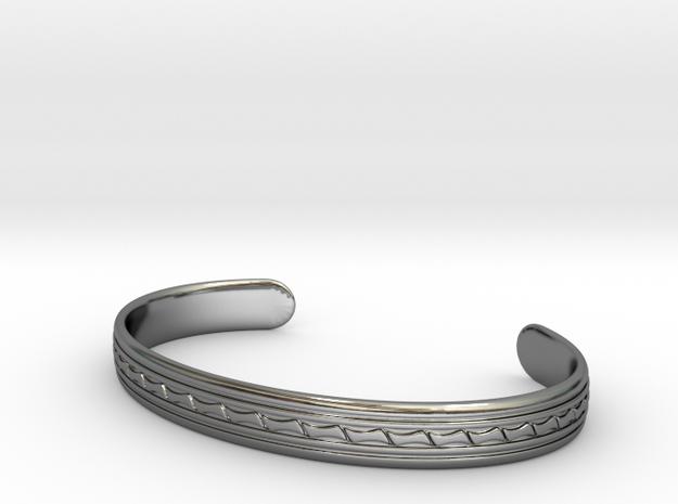 Bracelet Marocain 160 in Fine Detail Polished Silver
