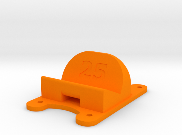 ZMR250 - 25° Action Cam Mount in Orange Processed Versatile Plastic