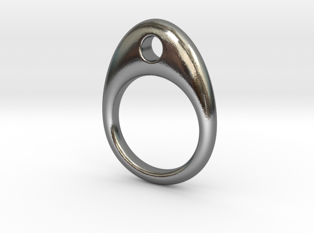 Hole Ring in Polished Silver