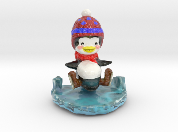 Slippy the Penguin in Glossy Full Color Sandstone