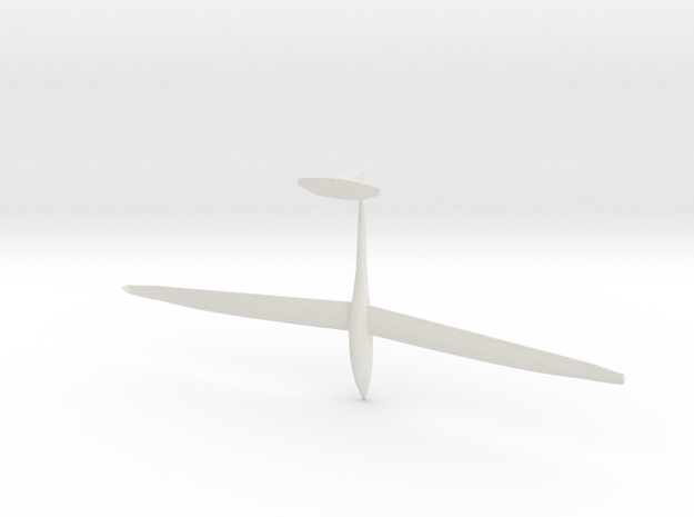 1/87th scale DG Flugzeugbau DG-1000 glider in White Strong & Flexible