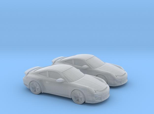1/148 2X 2010 Porsche 911 GT2 in Smooth Fine Detail Plastic