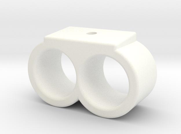 Two Shell Holder Velcro in White Processed Versatile Plastic