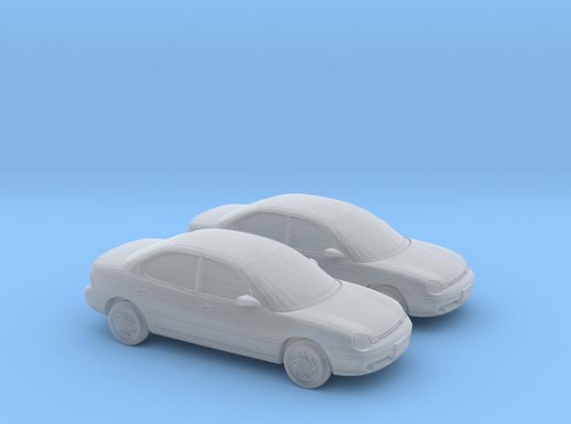 1/148 2X 1995 Dodge Neon Sedan in Smooth Fine Detail Plastic