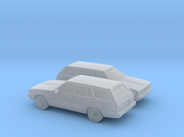 1/148 2X 1978 Mitsubish Galant Station Wagon in Smooth Fine Detail Plastic