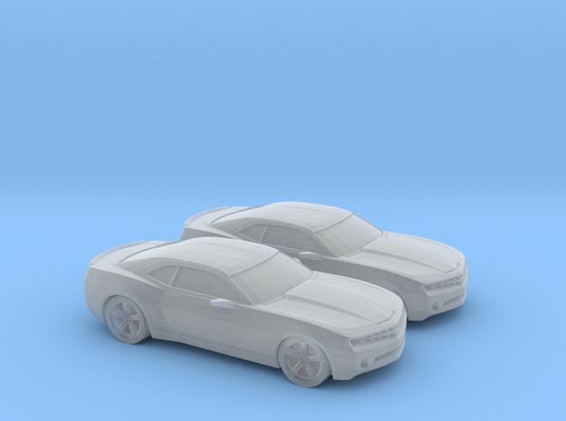 1/148 2X 2007 Chevrolet Camaro in Smooth Fine Detail Plastic