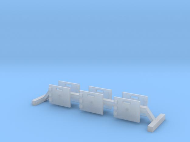 Atemschutzueberwachungstafel - 6 Stück 1/87 in Smoothest Fine Detail Plastic