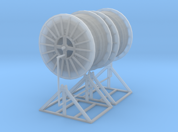 1/64th A pair of Cable Reels on mounts in Smooth Fine Detail Plastic