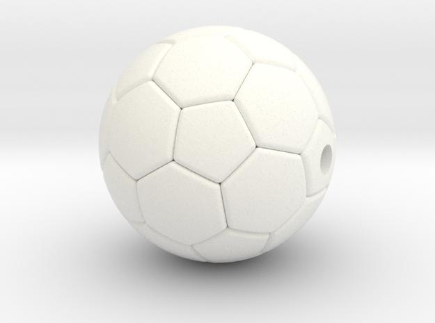 Soccer Ball Pendant  in White Processed Versatile Plastic