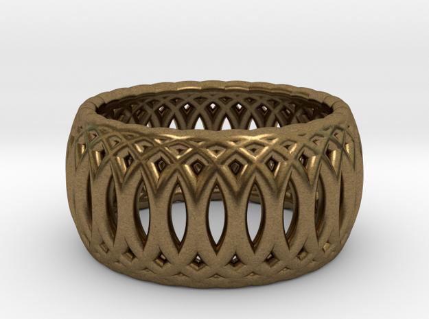 Ring of Rings - 18mm Diam in Raw Bronze