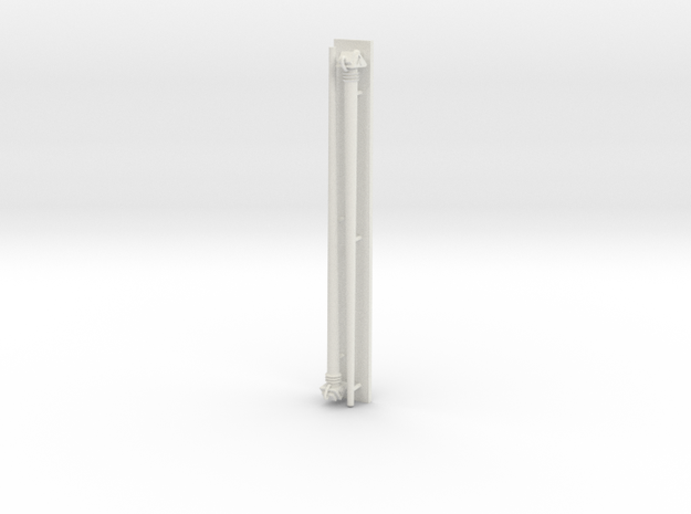 1:72 scale Navy whip antenna - Round/Mini at 45 de in White Natural Versatile Plastic