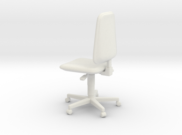 Chair 03. 1:24 scale in White Natural Versatile Plastic