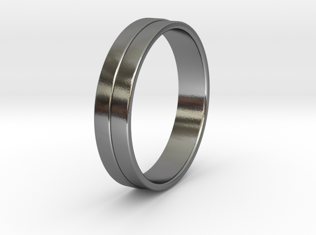 Ø0.674 inch/Ø17.13 mm Ring in Polished Silver