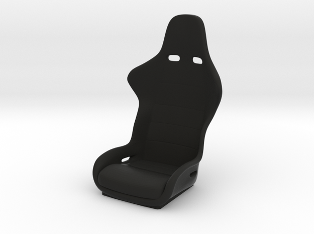 1/10 Scale Recaro Seat in Black Natural Versatile Plastic