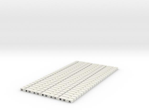 P-165stp-flexi-tram-track-100-pl-x72-1a in White Natural Versatile Plastic