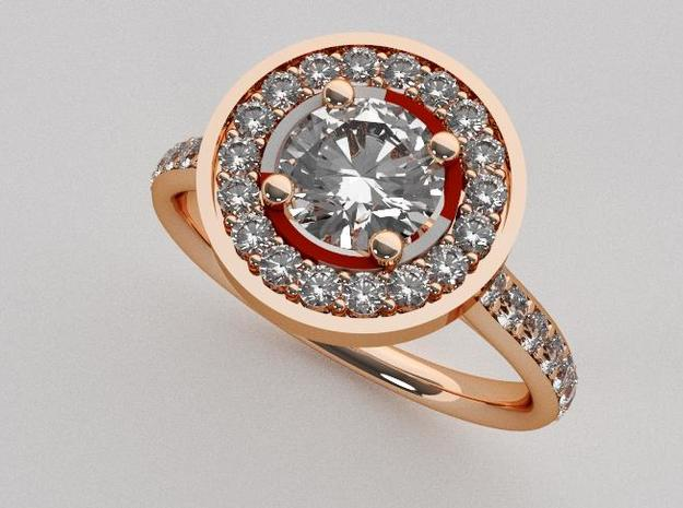 Halo Engagement Ring in 14k Rose Gold