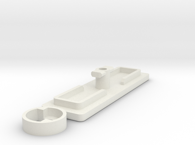 IIgs Port Cover (43mm) in White Natural Versatile Plastic