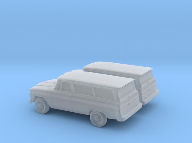1/200 2X 1966 Chevrolet Suburban in Smooth Fine Detail Plastic