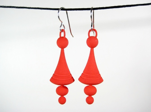 Luna Earrings 3d printed