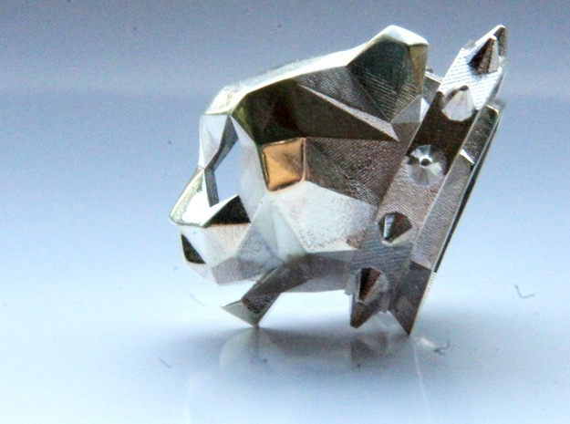 Spiked Cheetah Pendant 3d printed Spiked Cheetah Pendant - Silver