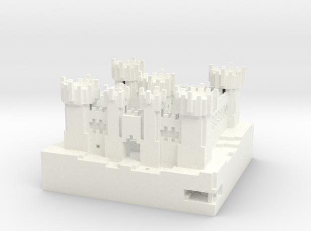 Castle Riath in White Processed Versatile Plastic