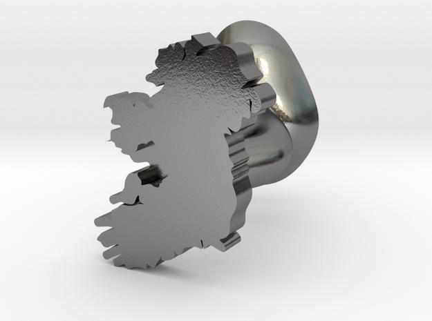 Galways Cufflink in Polished Silver