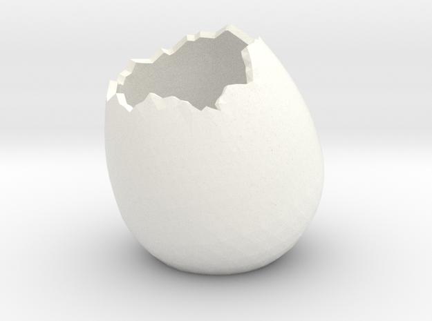 EggShell2 in White Processed Versatile Plastic