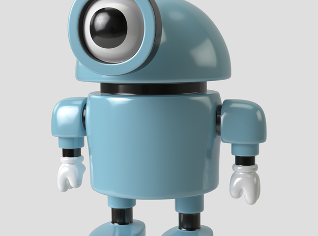 Cyclobot robot toy figure in Full Color Sandstone