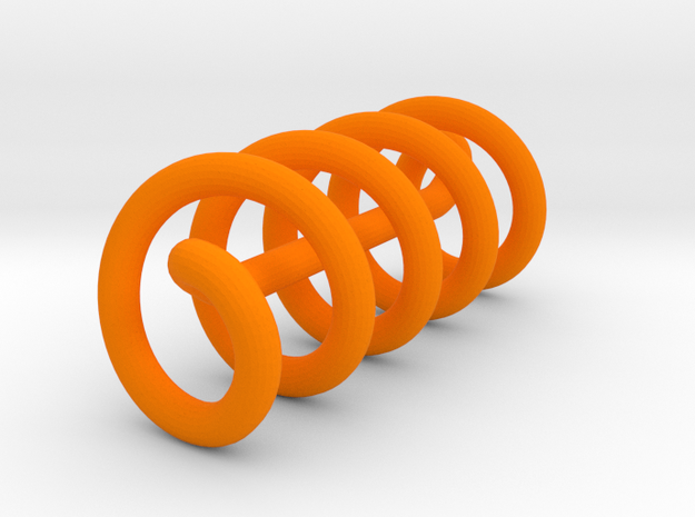 Continuous Helix Large in Orange Strong & Flexible Polished