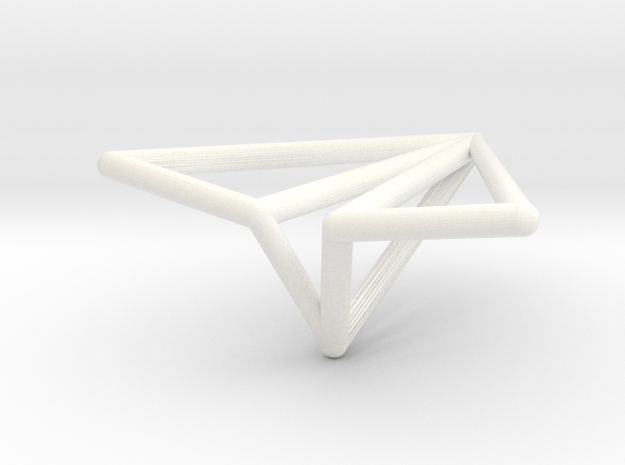Paper Airplane in White Strong & Flexible Polished