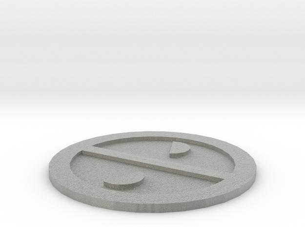 Deadpool Logo in Metallic Plastic