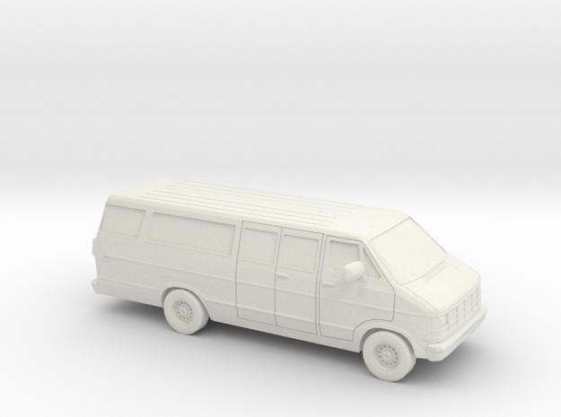 1/87 1986-93 Dodge Ram Van Split Side Door in White Natural Versatile Plastic