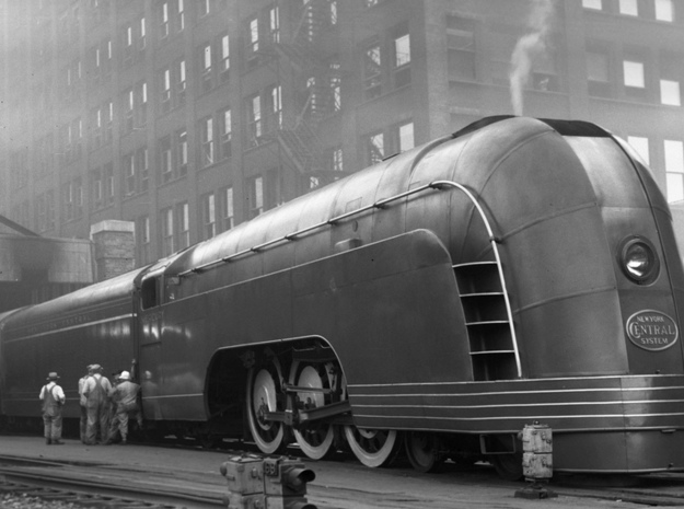 New York Mercury Train in Blue Strong & Flexible Polished