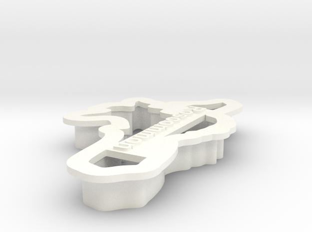Roscommon Cookie Cutter in White Processed Versatile Plastic