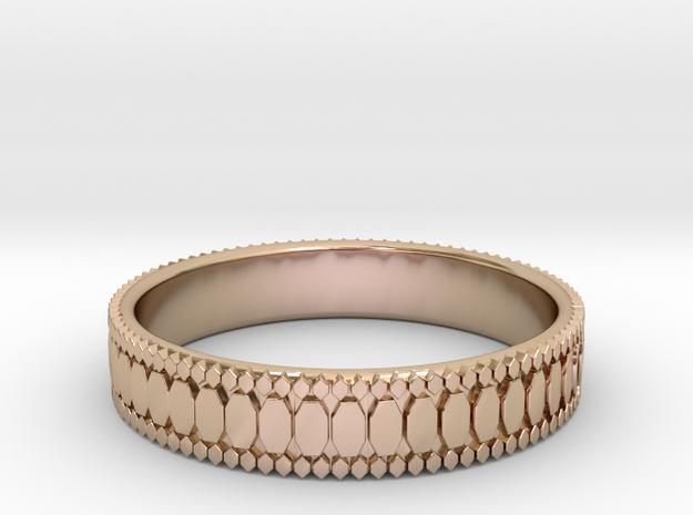 Ø0.687 inch/Ø17.45 mm Ring in 14k Rose Gold Plated Brass