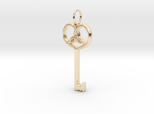 Friggjarlykill  - Key of Frigg in 14K Yellow Gold