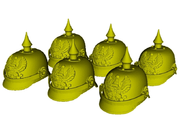 1/15 scale German pickelhaube helmets x 6