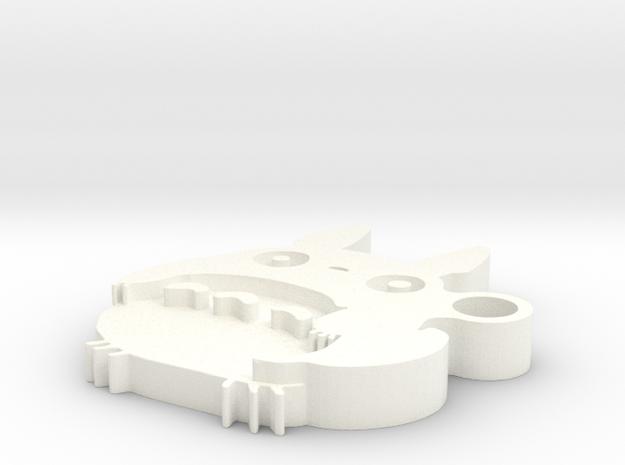 Totoro Medium Keychain in White Processed Versatile Plastic