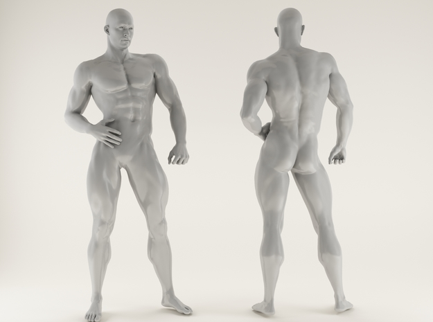 2016028-Strong man scale 1/10 in White Processed Versatile Plastic