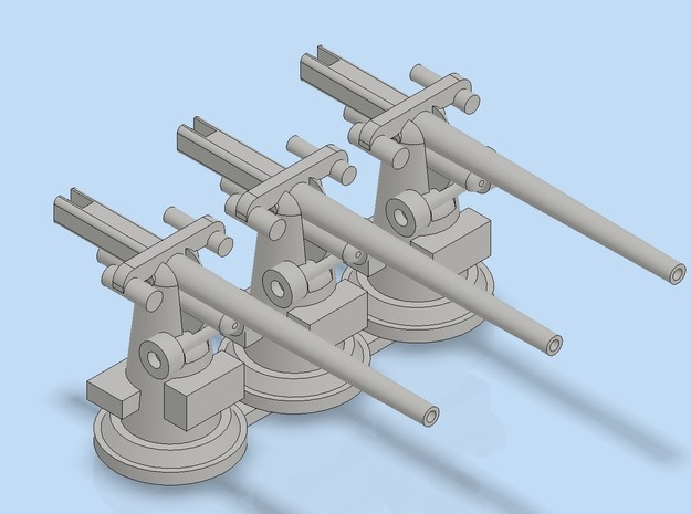 "1:249 Scale 3""/50 Cal Mk22 Naval Gun in Smoothest Fine Detail Plastic"