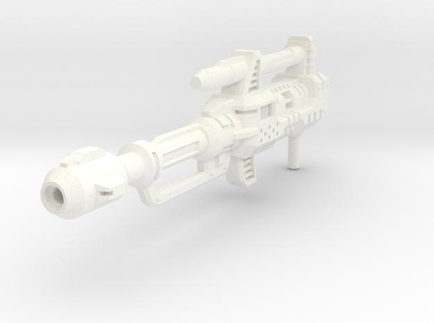 Combiner Wars Menasor / Motormaster Rifle in White Processed Versatile Plastic