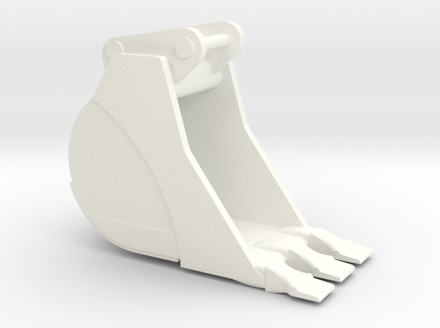 349 Trench2 in White Processed Versatile Plastic