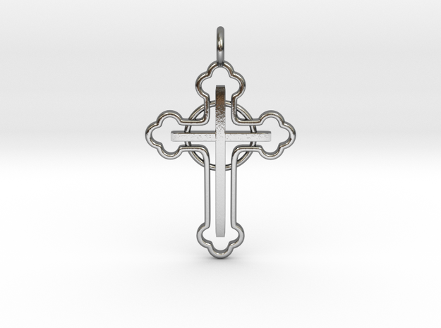 The Ringed Cross in Polished Silver