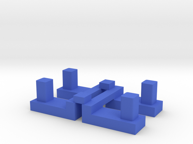 Base Kit - Buttons in Blue Processed Versatile Plastic