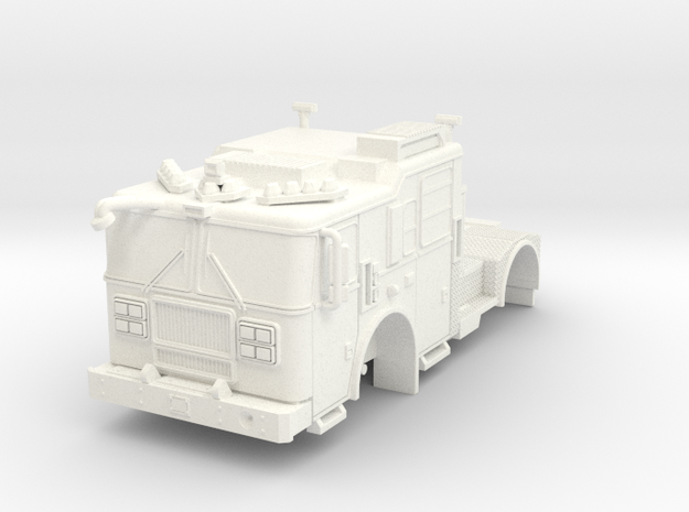 1/64 Seagrave MII TDA Tractor in White Processed Versatile Plastic